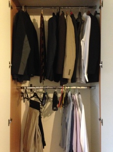 A wardrobe decluttered